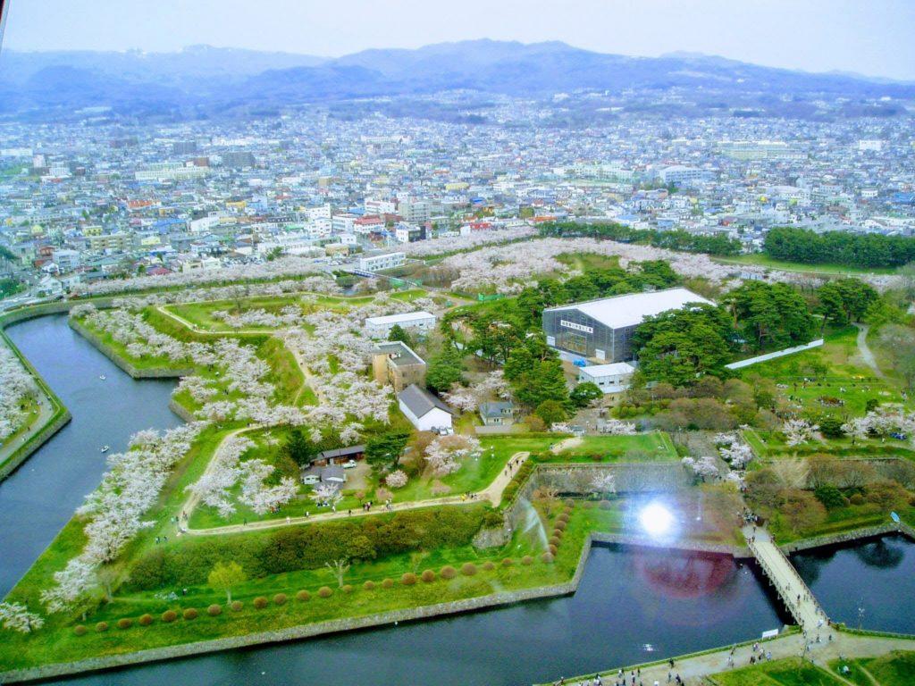 北海道五稜郭タワーからみた景色